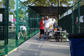 Pickleball Waiting Area